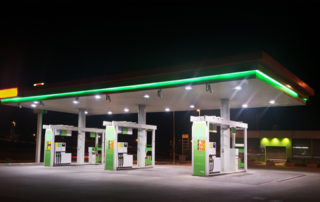 Gas Station at Night, Gasoline Types